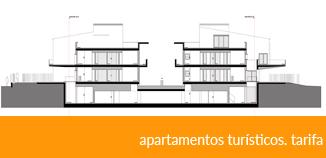 apartamentos turísticos. tarifa