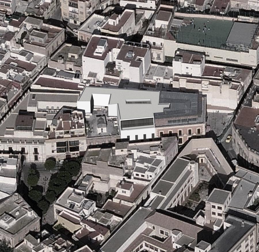 edificio administrativo para la concejalía de hacienda del ayuntamiento de almería