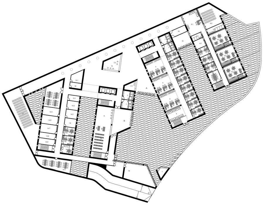 edificio administrativo en santa maría del valle. jaén