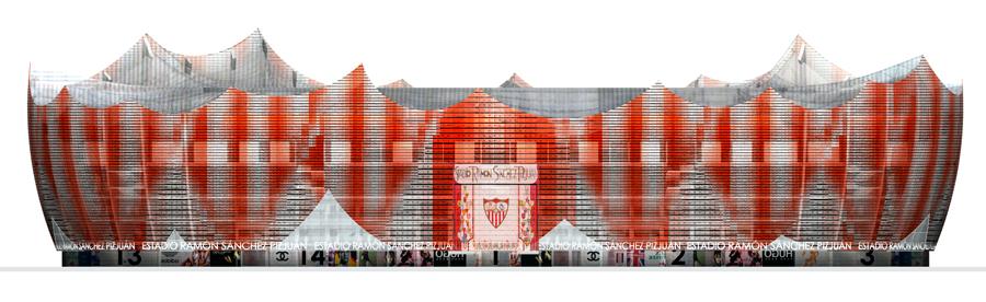 alzado preferencia. Ampliación estadio Sevilla FC