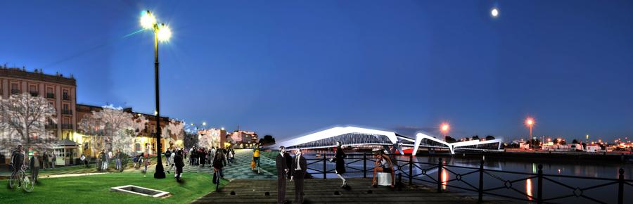 puente sobre el río guadalete. el puerto de santa maría