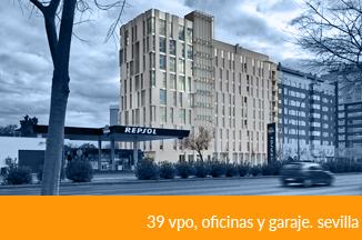 39 VIVIENDAS VPO, OFICINAS, LOCALES Y GARAJE EN SEVILLA